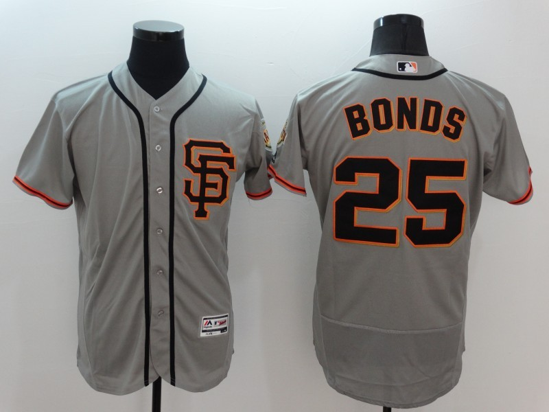 2016 MLB FLEXBASE San Francisco Giants 25 Bonds Grey Jersey