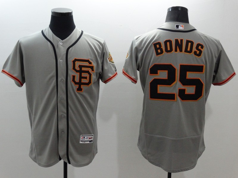 2016 MLB FLEXBASE San Francisco Giants 25 Bonds grey jerseys
