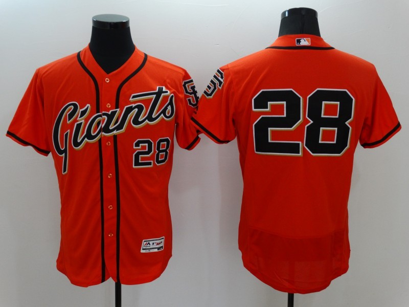2016 MLB FLEXBASE San Francisco Giants 28 Buster Posey Orange Jerseys