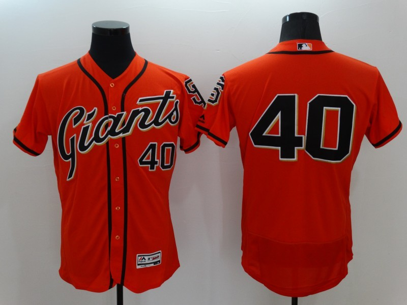2016 MLB FLEXBASE San Francisco Giants 40 Madison Bumgarner Orange Jerseys