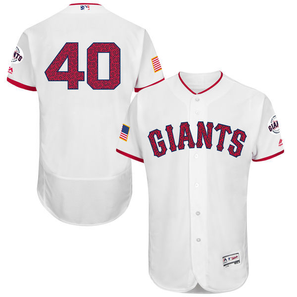 2016 MLB FLEXBASE San Francisco Giants 40 Madison Bumgarner White Fashion Jerseys