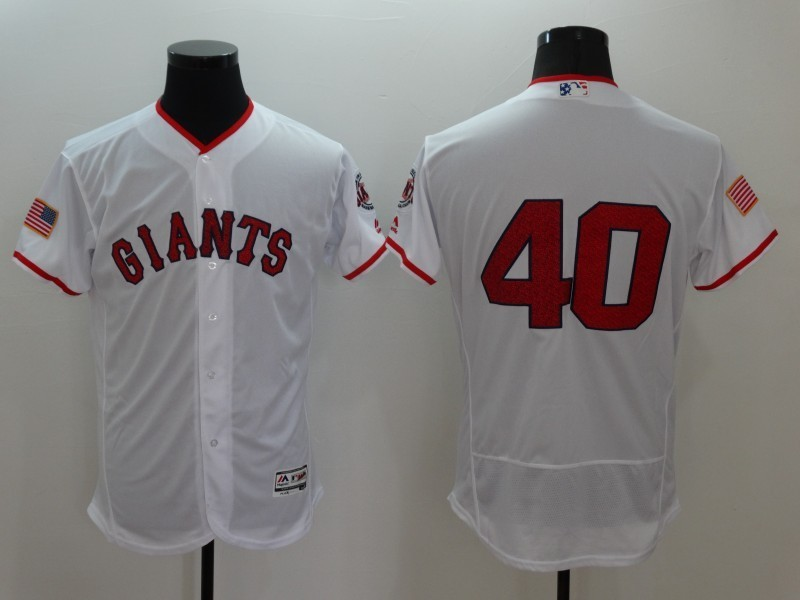 2016 MLB FLEXBASE San Francisco Giants 40 Madison Bumgarner White1 Fashion Jerseys