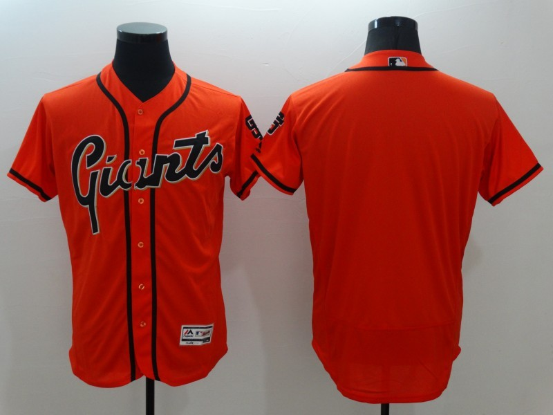2016 MLB FLEXBASE San Francisco Giants Blank Orange Jersey