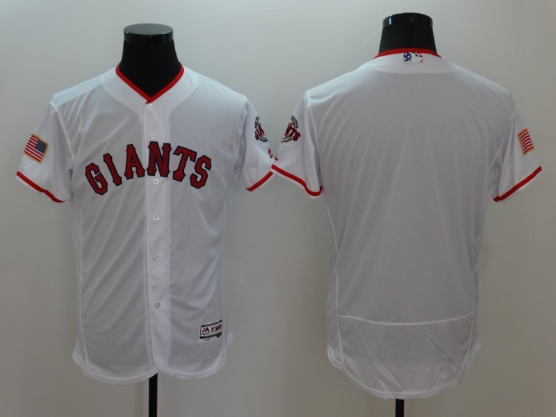 2016 MLB FLEXBASE San Francisco Giants Blank White Fashion Jerseys