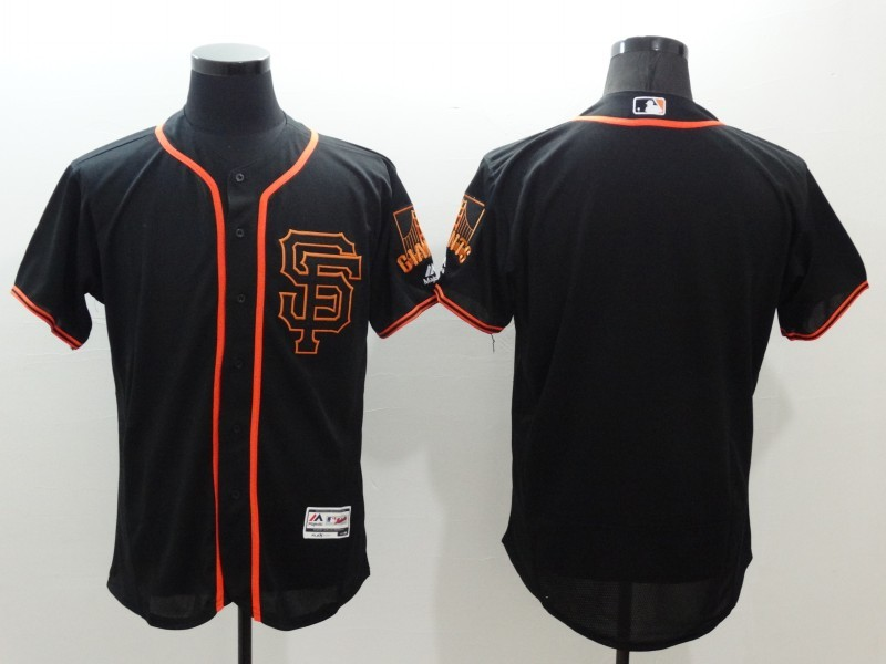 2016 MLB FLEXBASE San Francisco Giants blank black jerseys