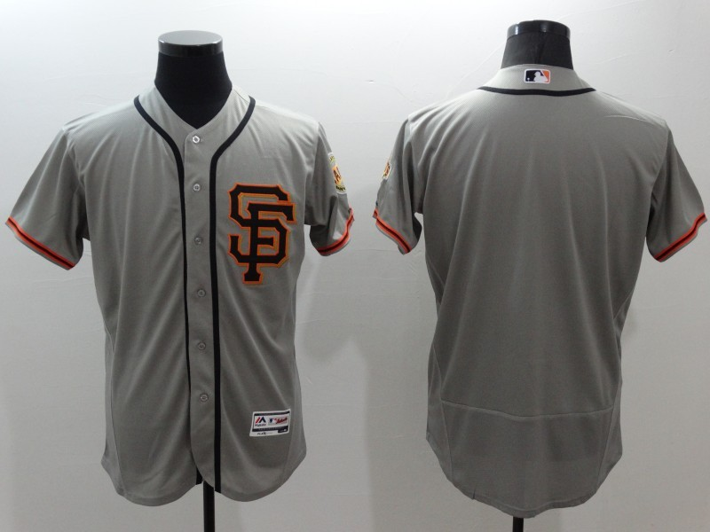 2016 MLB FLEXBASE San Francisco Giants blank grey jerseys