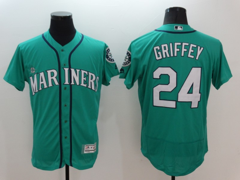 2016 MLB FLEXBASE Seattle Mariners 24 Griffer Green Jersey