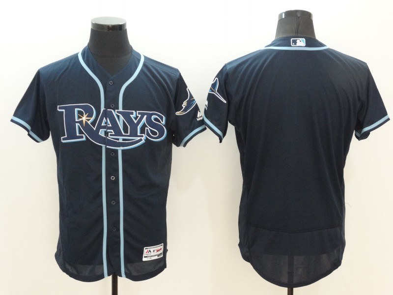 2016 MLB FLEXBASE Tampa Bay Rays Blank Blue Jerseys