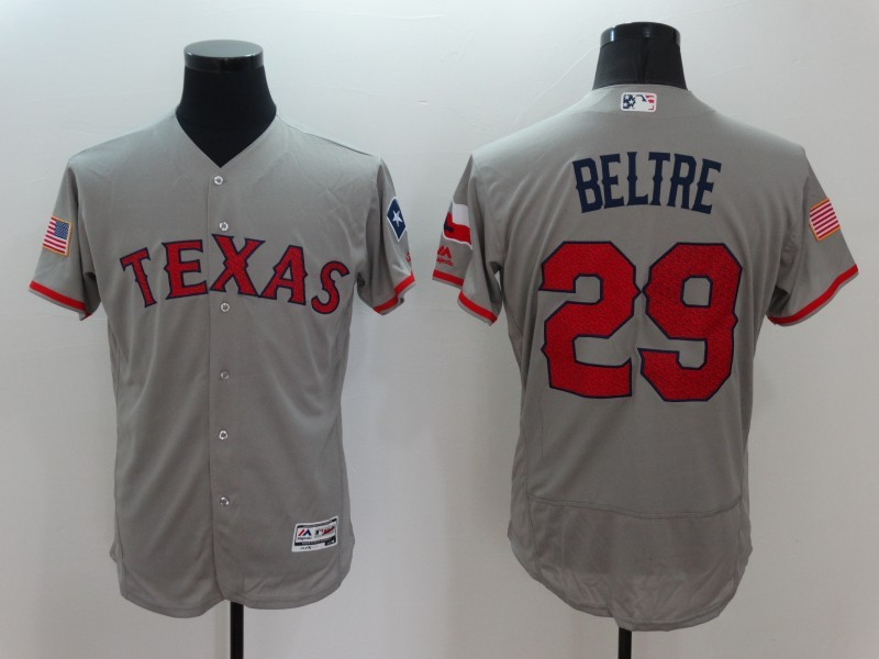 2016 MLB FLEXBASE Texas Rangers 29 Beltre Grey Fashion Jerseys
