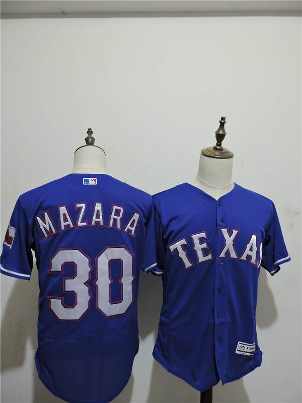 2016 MLB FLEXBASE Texas Rangers 30 Mazara Blue Elite Jerseys