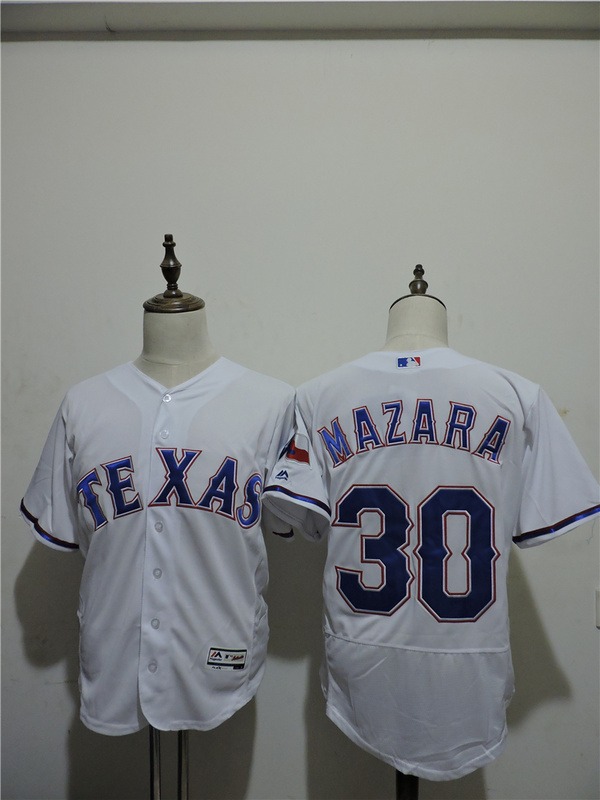2016 MLB FLEXBASE Texas Rangers 30 Mazara White Elite Jerseys