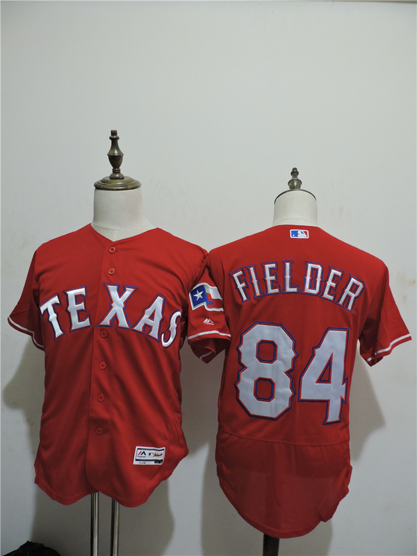 2016 MLB FLEXBASE Texas Rangers 84 Prince Fielder Red Elite Jerseys