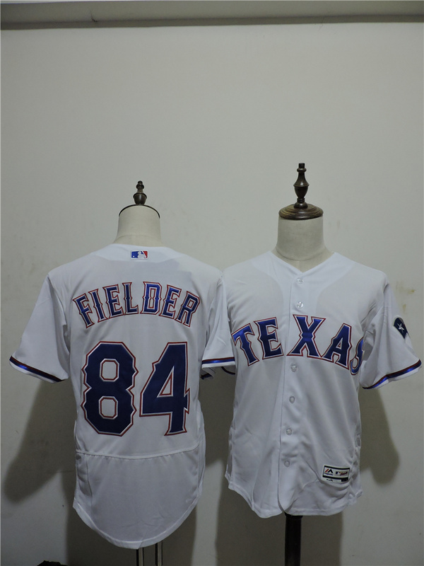 2016 MLB FLEXBASE Texas Rangers 84 Prince Fielder White Elite Jerseys