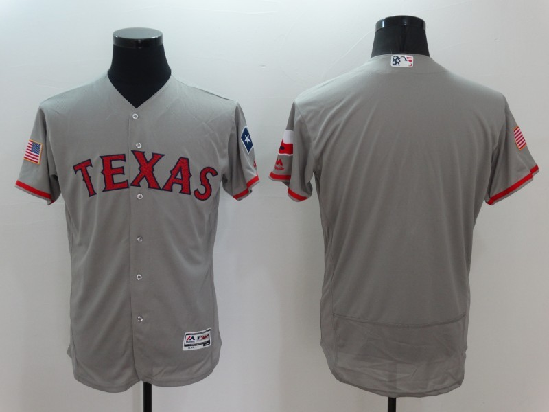 2016 MLB FLEXBASE Texas Rangers Blank Grey Fashion Jerseys