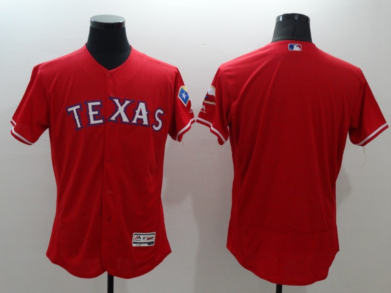 2016 MLB FLEXBASE Texas Rangers blank red jerseys