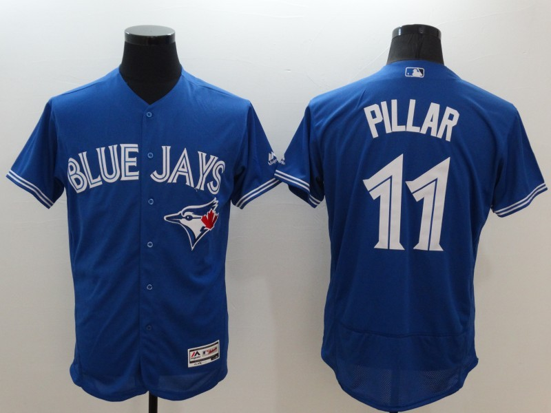 2016 MLB FLEXBASE Toronto Blue Jays 11 Pillar blue jerseys