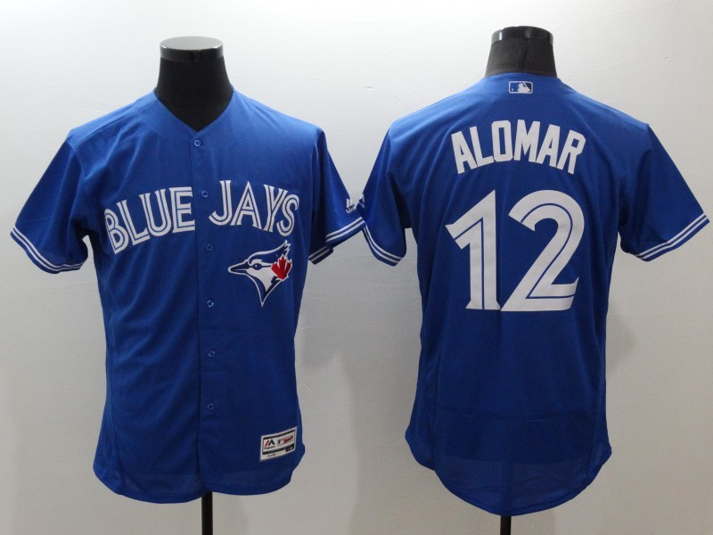 2016 MLB FLEXBASE Toronto Blue Jays 12 Alomar blue jerseys