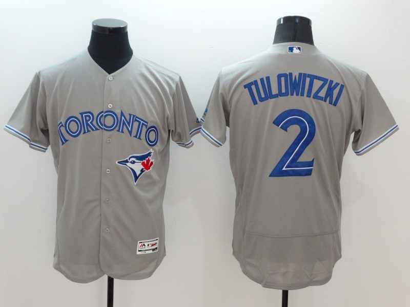 2016 MLB FLEXBASE Toronto Blue Jays 2 Tulowitzki Grey Jerseys