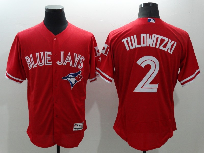 2016 MLB FLEXBASE Toronto Blue Jays 2 Tulowitzki Red Jersey