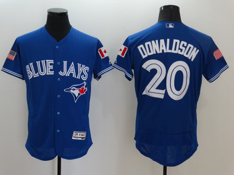 2016 MLB FLEXBASE Toronto Blue Jays 20 Donaldson Blue Fashion Jerseys