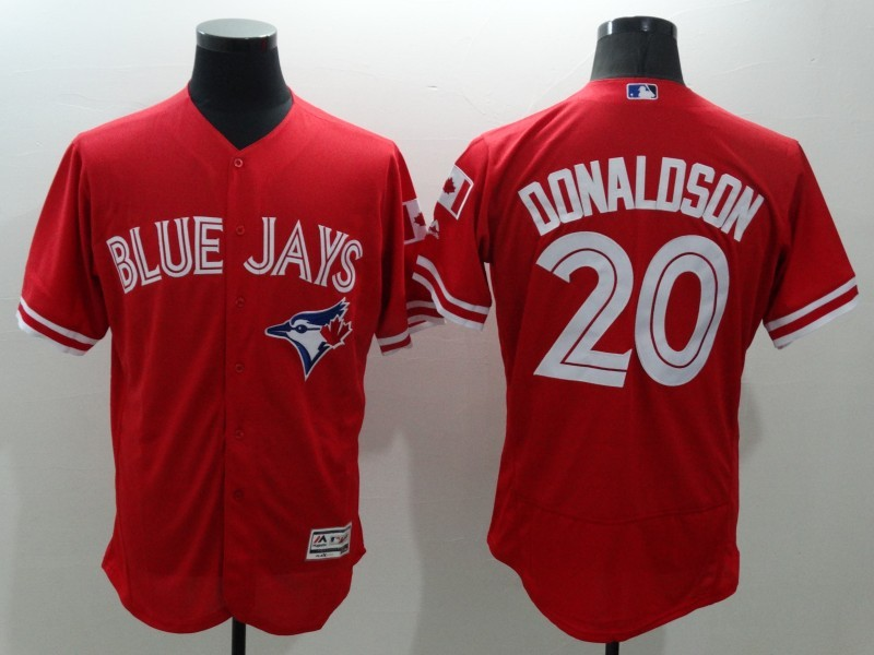 2016 MLB FLEXBASE Toronto Blue Jays 20 Donaldson Red Jersey