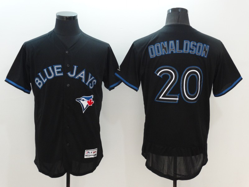 2016 MLB FLEXBASE Toronto Blue Jays 20 Donaldson black jerseys