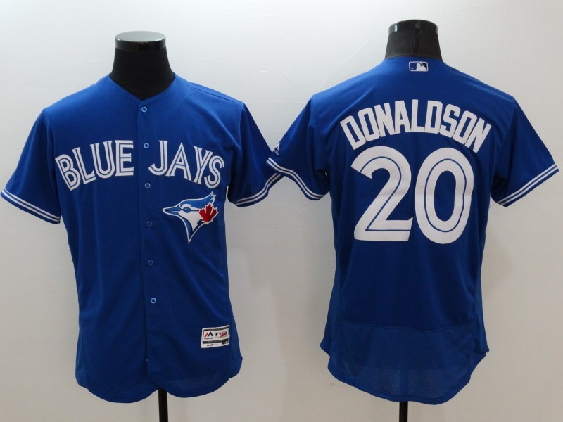 2016 MLB FLEXBASE Toronto Blue Jays 20 Donaldson blue jerseys