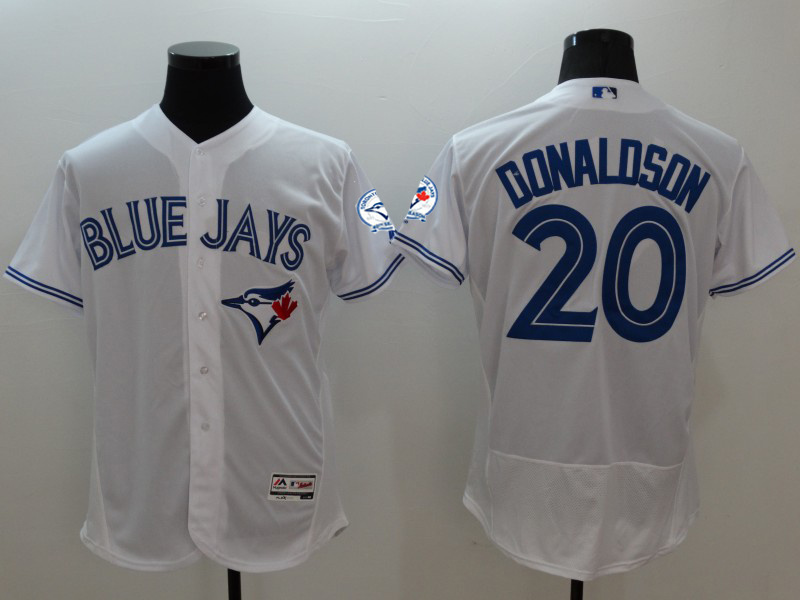 2016 MLB FLEXBASE Toronto Blue Jays 20 Donaldson white jerseys