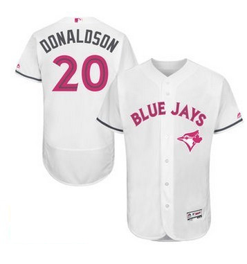 2016 MLB FLEXBASE Toronto Blue Jays 20 Donaldson white mother's day jerseys