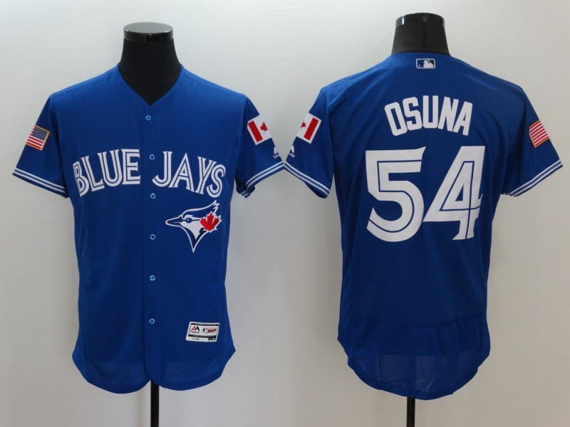 2016 MLB FLEXBASE Toronto Blue Jays 54 Osuna Blue Fashion Jerseys