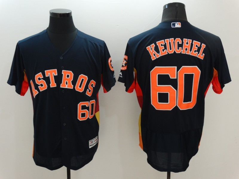 2016 MLB Houston Astros 60 Keuchel Black Elite Fashion Jerseys