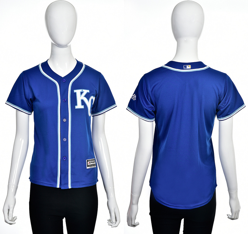 2016 MLB Kansas City Royals Blank blue women jerseys