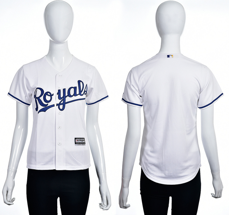 2016 MLB Kansas City Royals Blank white women jerseys