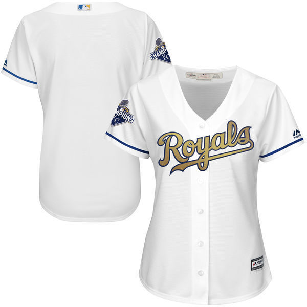 2016 MLB Kansas City Royals Champions blank white women jerseys