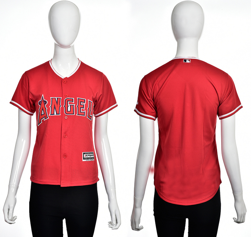 2016 MLB Los Angeles Angels Blank red women jerseys