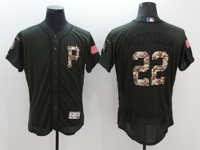 2016 MLB Pittsburgh Pirates 22 Mccutchen Green Salute to Service Stitched Baseball Jersey