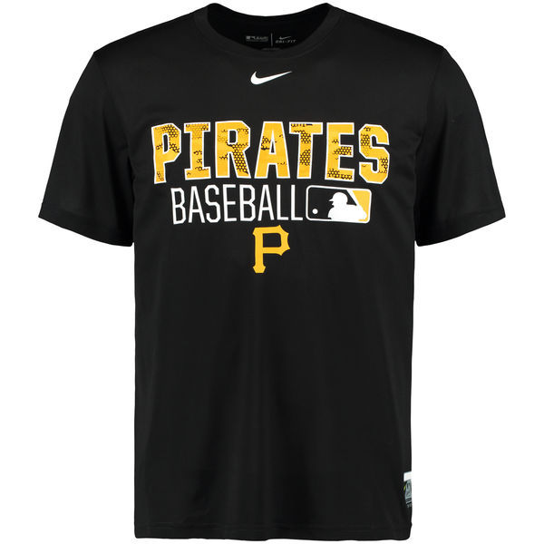 2016 MLB Pittsburgh Pirates Nike 2016 AC Legend Team Issue 1.6 T-Shirt - Black