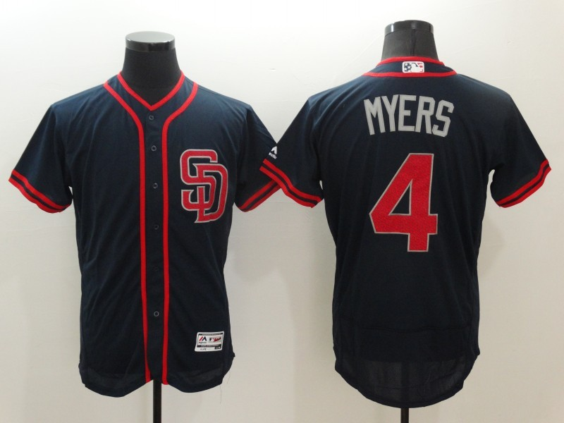 2016 MLB San Diego Padres 4 Myers Blue Elite Fashion Jerseys