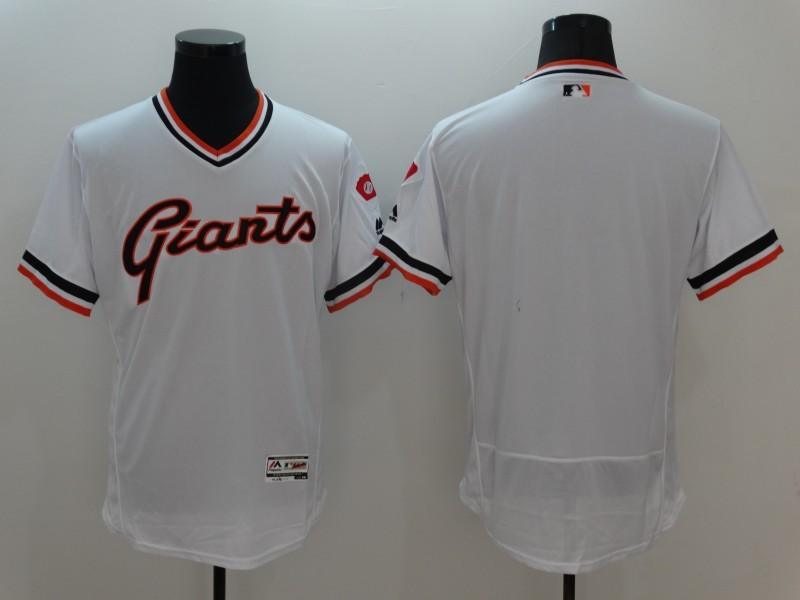 2016 MLB San Francisco Giants Blank White Elite Throwback Jerseys