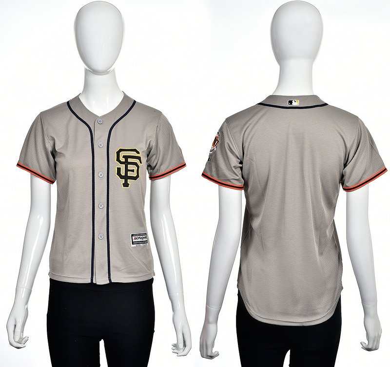 2016 MLB San Francisco Giants Blank grey women jerseys