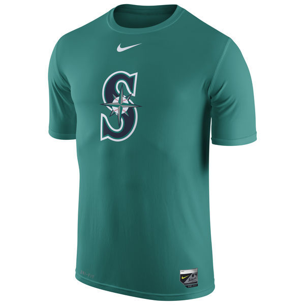 2016 MLB Seattle Mariners Nike Authentic Collection Legend Logo 1.5 Performance T-Shirt - green