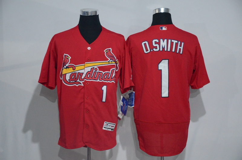 2016 MLB St. Louis Cardinals 1 O.Smith Red Elite Fashion Jerseys