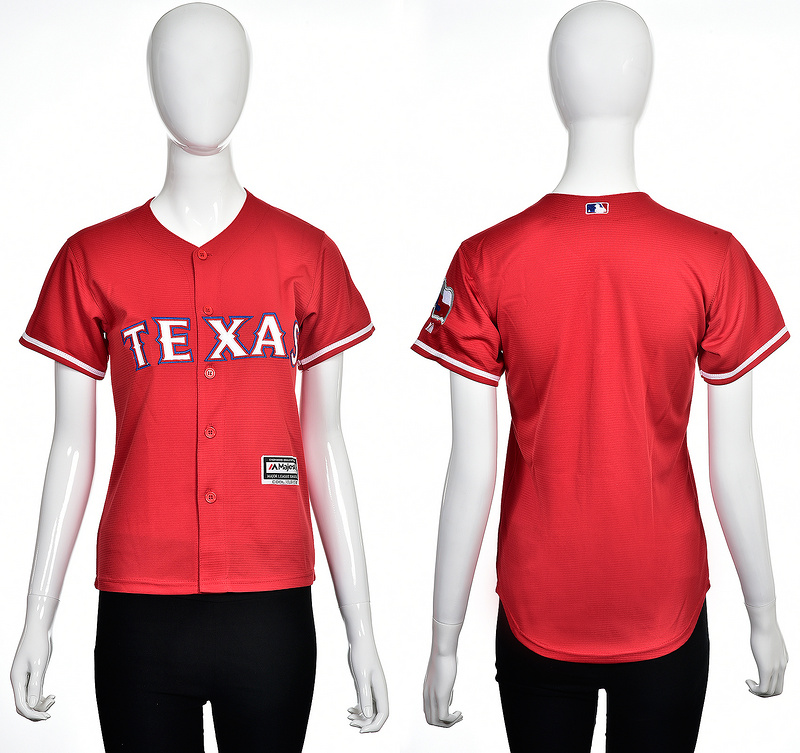 2016 MLB Texas Rangers Blank red women jerseys