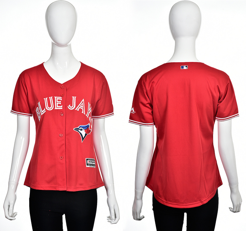2016 MLB Toronto Blue Jays Blank red women jerseys