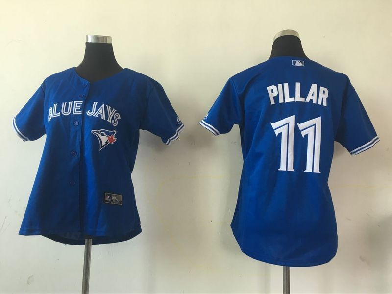 2016 MLB Womens Toronto Blue Jays 11 Kevin Pillar Blue Jersey