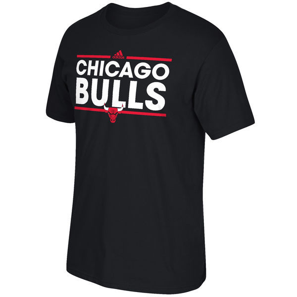 2016 NBA Chicago Bulls adidas Dassler T-Shirt - Black