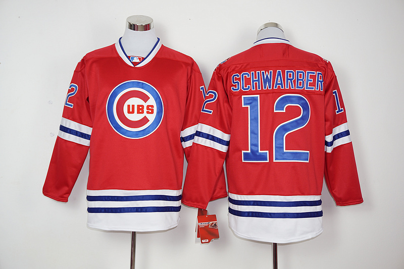 2016 New MLB Chicago Cubs 12 Schwarber red Jerseys