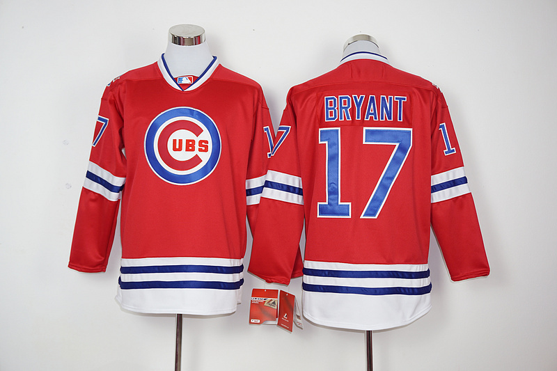 2016 New MLB Chicago Cubs 17 Bryant red Jerseys
