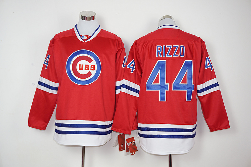 2016 New MLB Chicago Cubs 44 Rizzo red Jerseys
