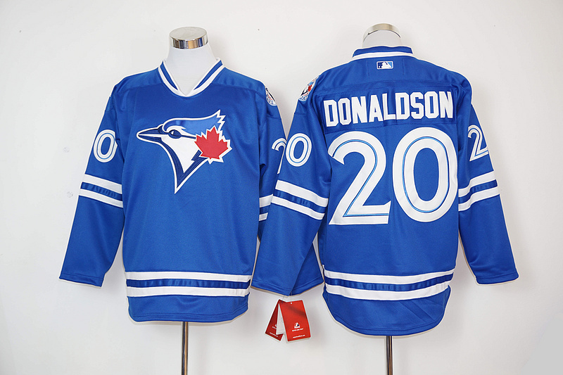 2016 New MLB Toronto Blue Jays 20 Donaldson Blue Jerseys